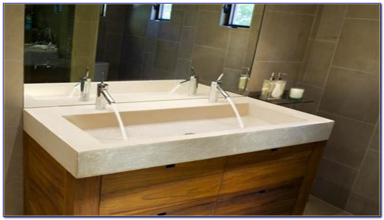 Dual Faucet Trough Sink