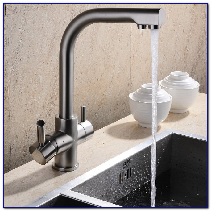 Filtered Water Faucet Brushed Nickel