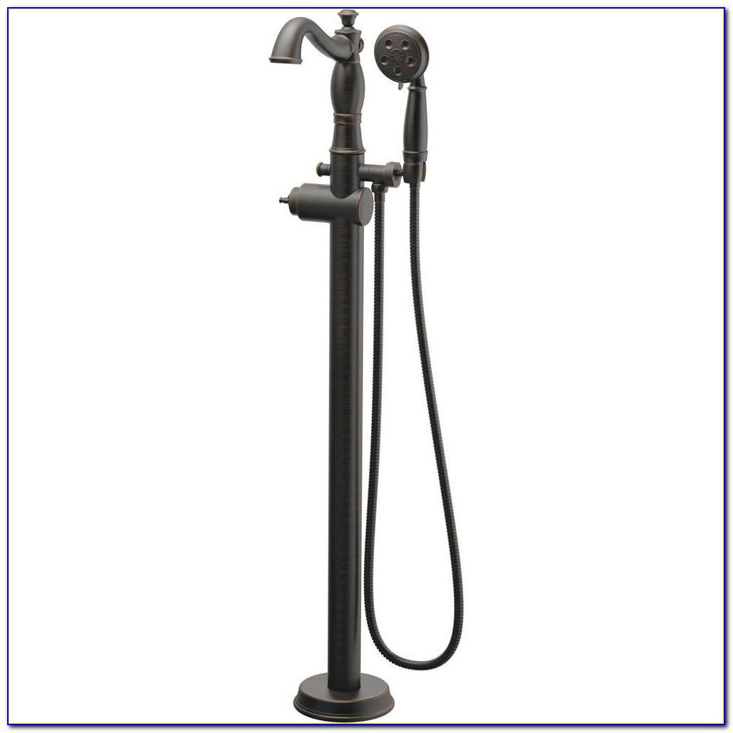 Floor Mount Tub Faucet Black