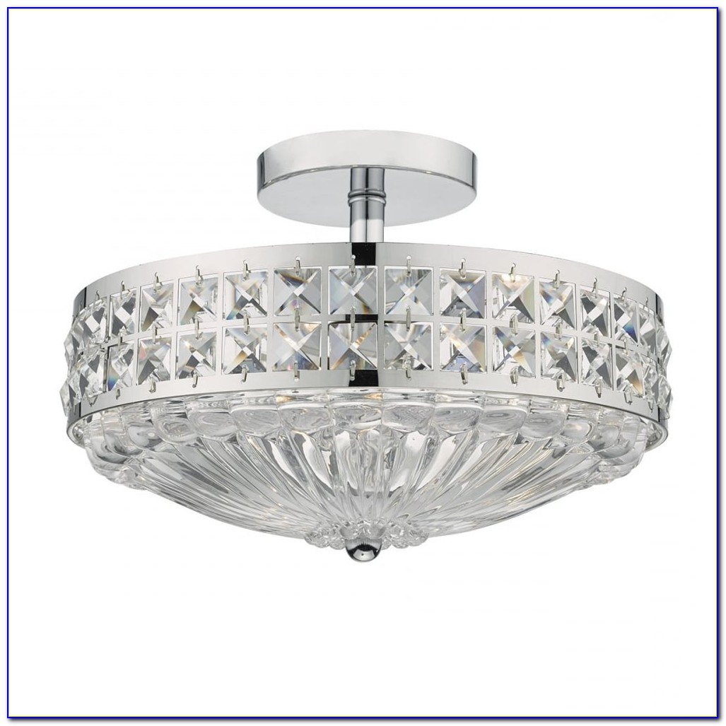 Flush Fitting Crystal Ceiling Lights