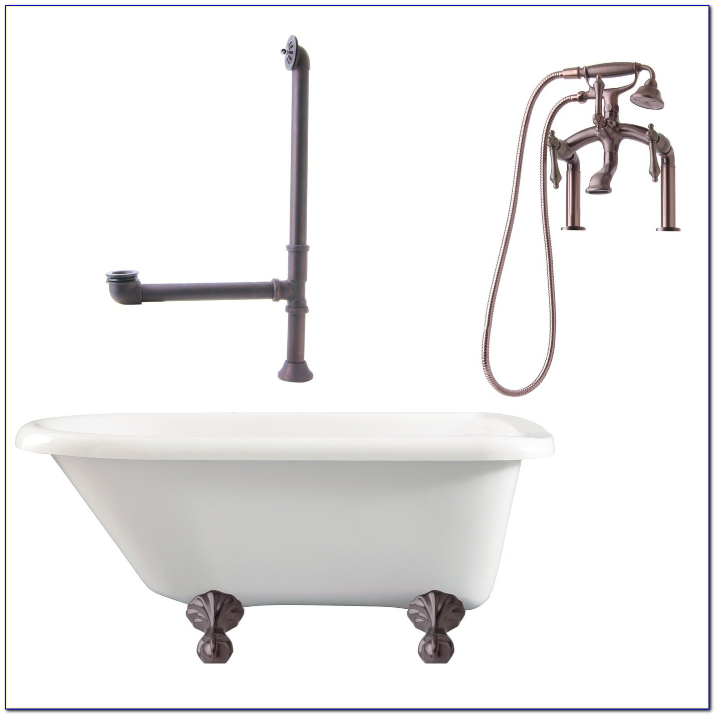 Freestanding Tub With Faucet Mount