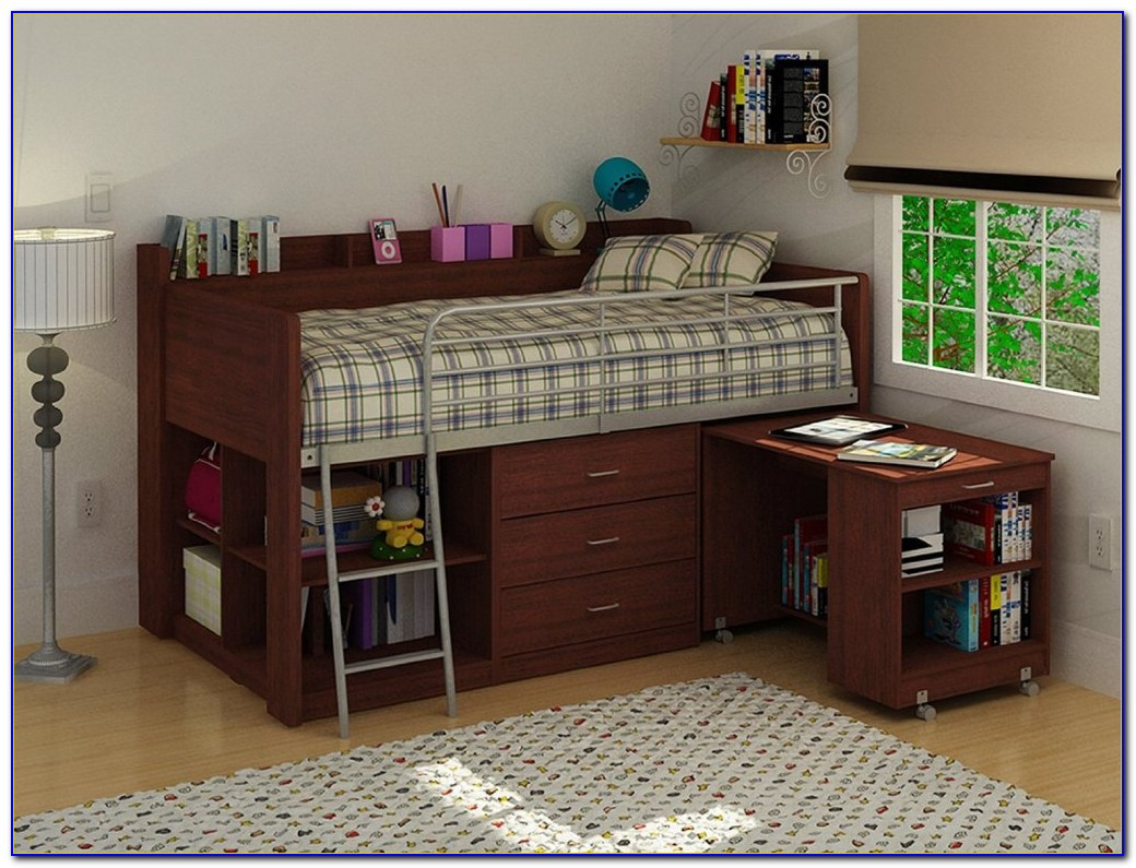 Full Loft Bed With Dresser And Desk