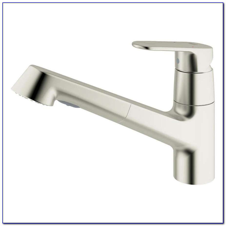 Grohe White Pull Out Kitchen Faucet