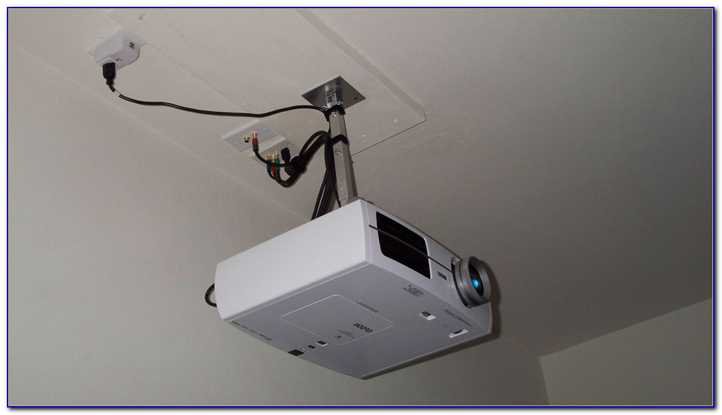 Install Ceiling Mount Projector Screen