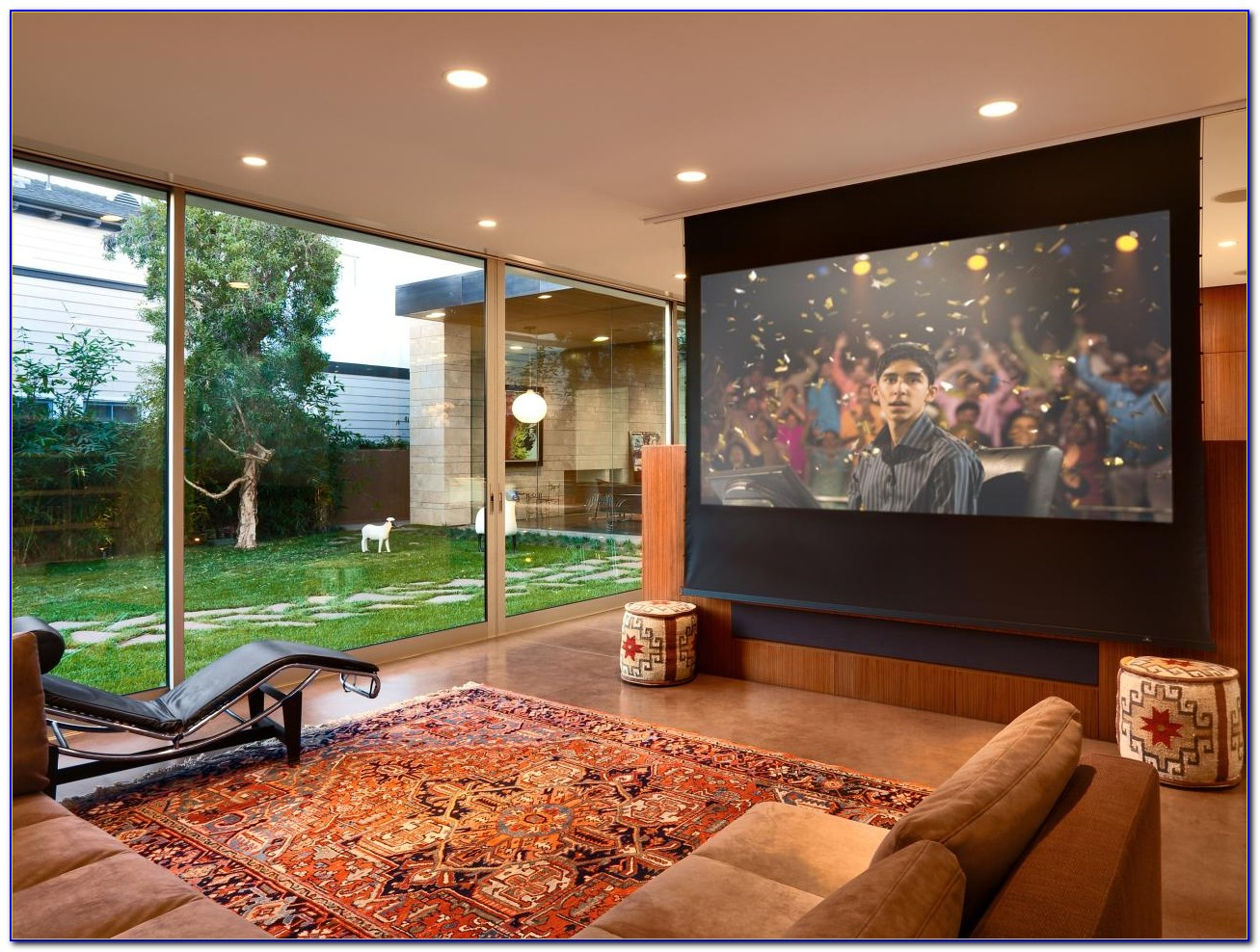 Install Projector Screen In Drop Ceiling
