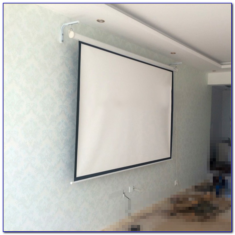 Installing Projection Screen In Ceiling