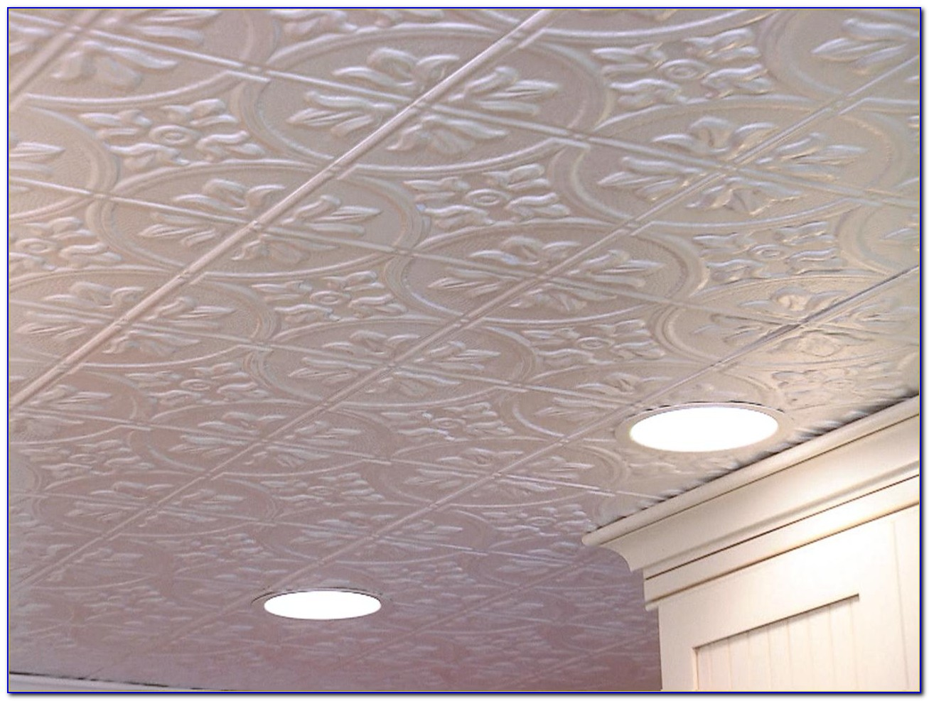 Installing Tin Ceiling Tiles
