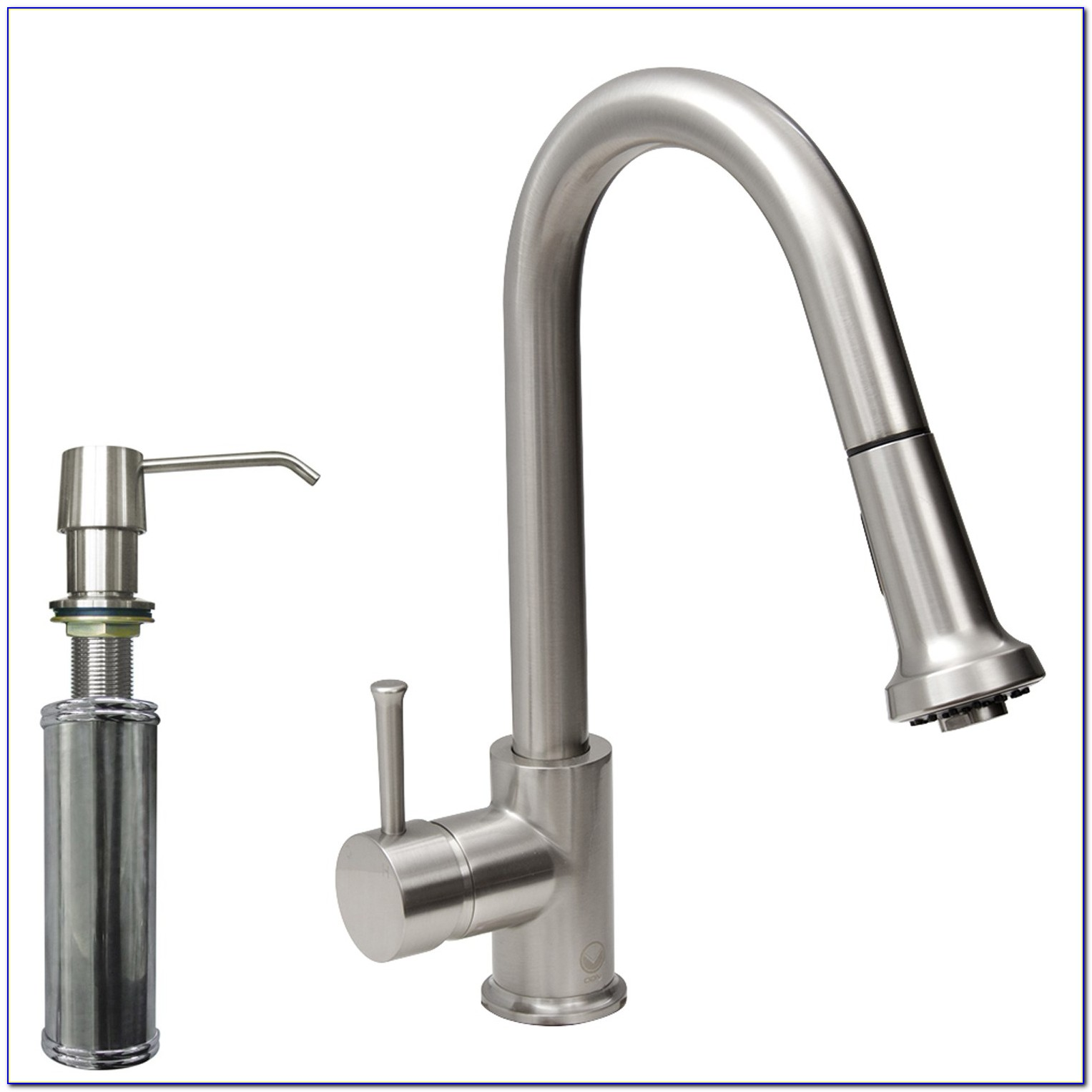 Kitchen Faucet With Separate Sprayer And Soap Dispenser