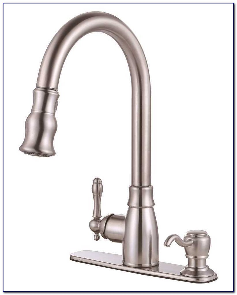 Kitchen Faucet With Soap Dispenser And Sprayer