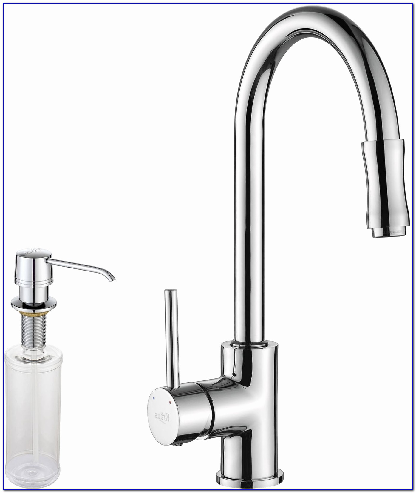 Single Handle Pull Down Kitchen Faucet With Soap Dispenser Bronze Inspirational Kraus Kpf1622ksd30ch Single Lever Cast Spout Kitchen Faucet With 2 2