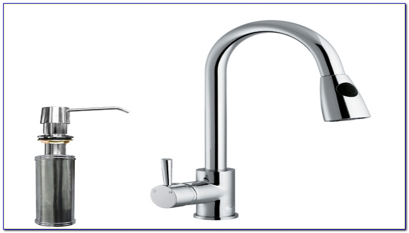 Kitchen Faucets With Soap Dispenser And Sprayer
