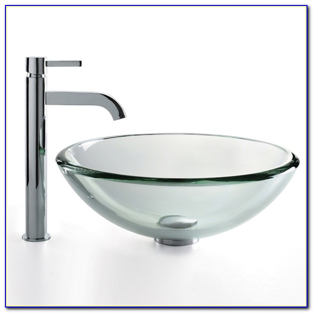 Kraus Vessel Sink And Waterfall Faucet Combo