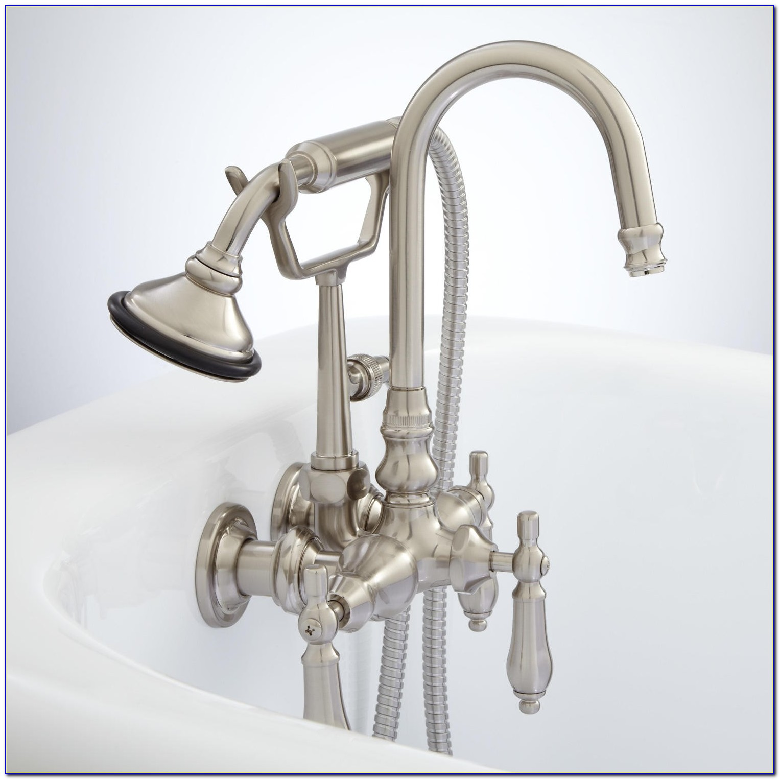 Laundry Tub Faucet With Sprayer