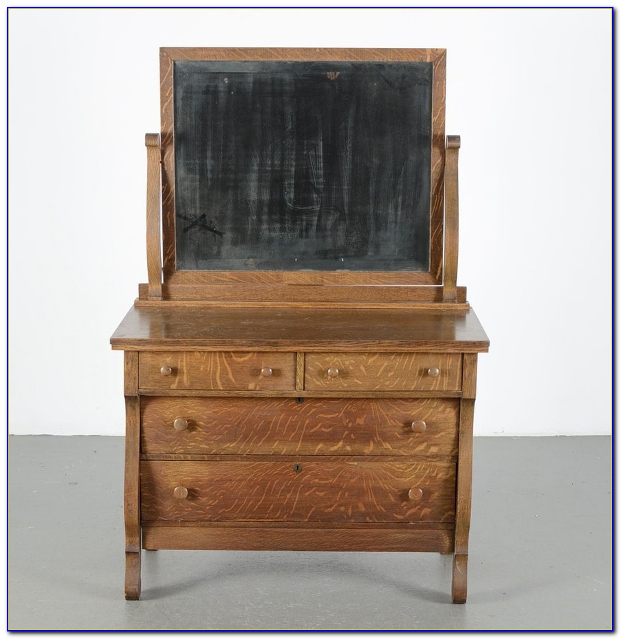 Light Oak Dresser With Mirror