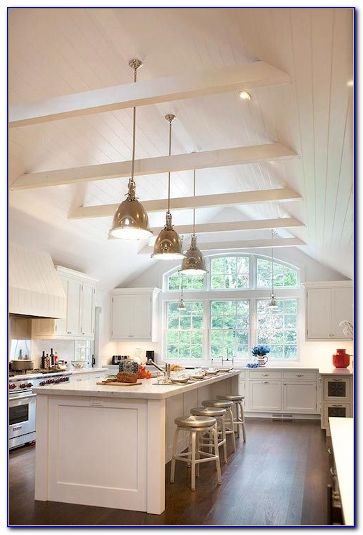 Lighting For Cathedral Ceiling In The Kitchen