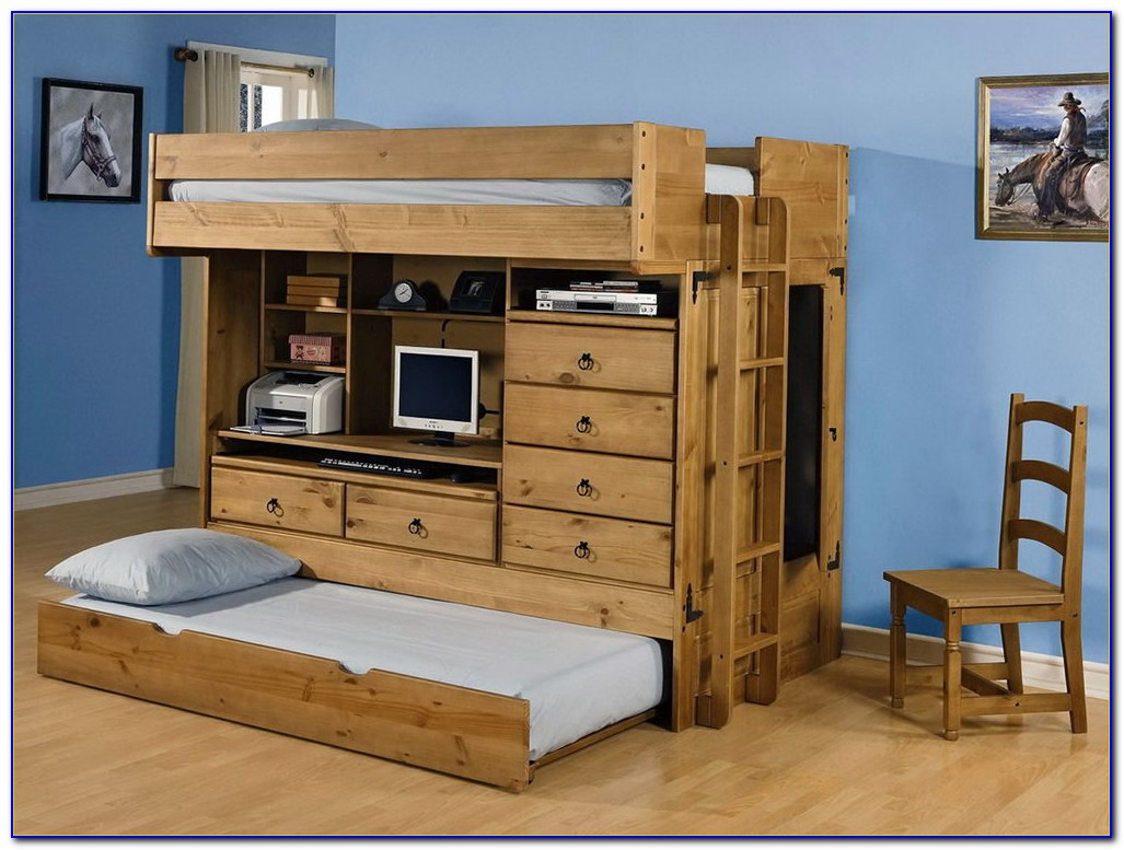 Loft Bed With Dresser Underneath Plans