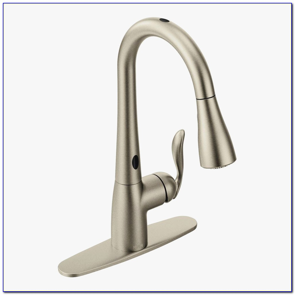 Moen T933 Beautiful Moen Arbor Single Handle Pull Down Sprayer Touchless Kitchen Faucet