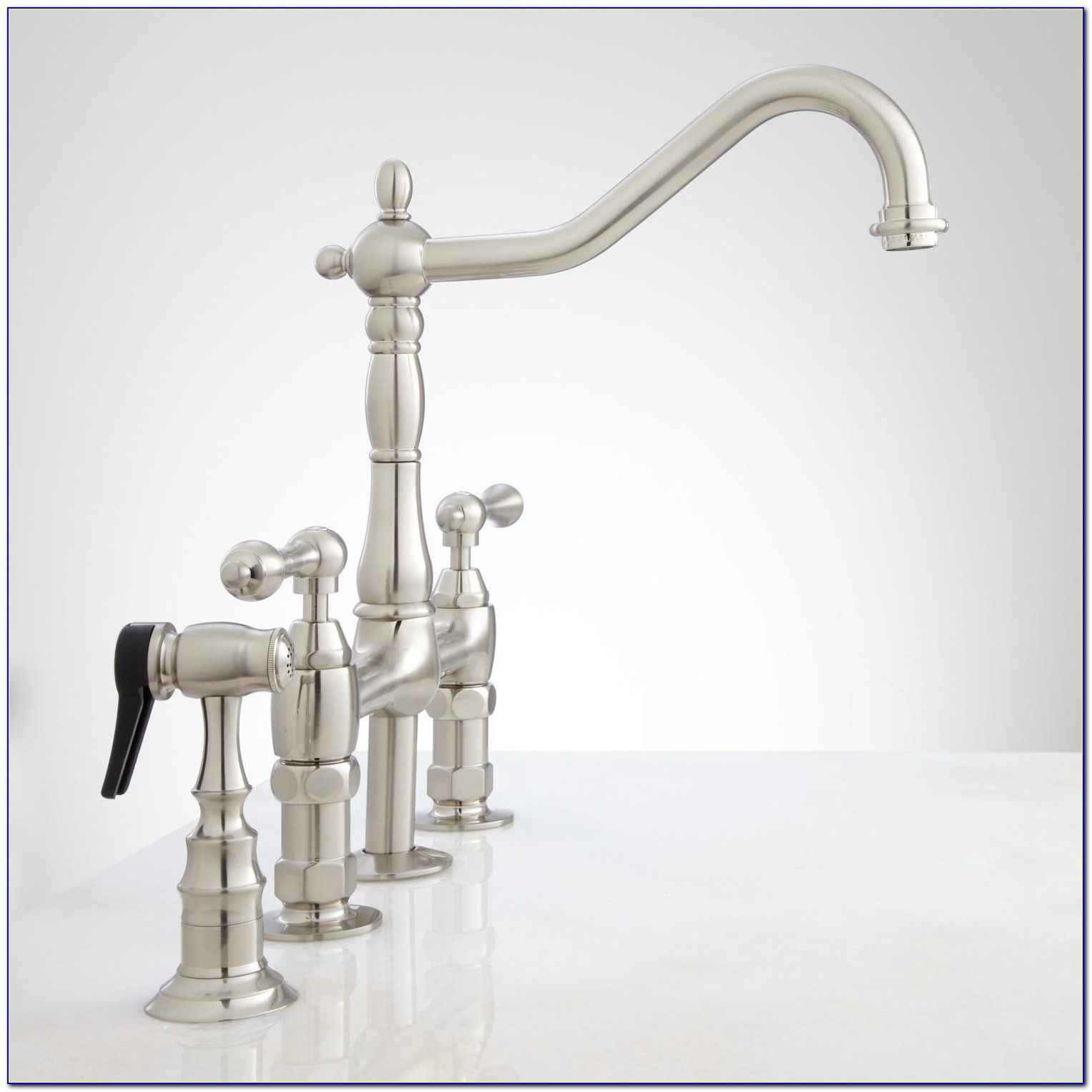 Delta Bridge Style Kitchen Faucet Delta Bridge Style Kitchen Faucet Bellevue Bridge Kitchen Faucet With Brass Sprayer Lever Handles 1500 X 1500