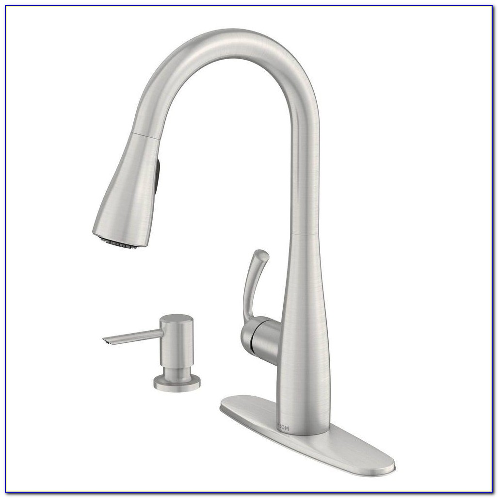 Kitchen Faucet With Soap Dispenser And Sprayer Kitchen Faucet With Soap Dispenser And Sprayer Moen Essie Single Handle Pull Down Sprayer Kitchen Faucet With 1000 X 1000