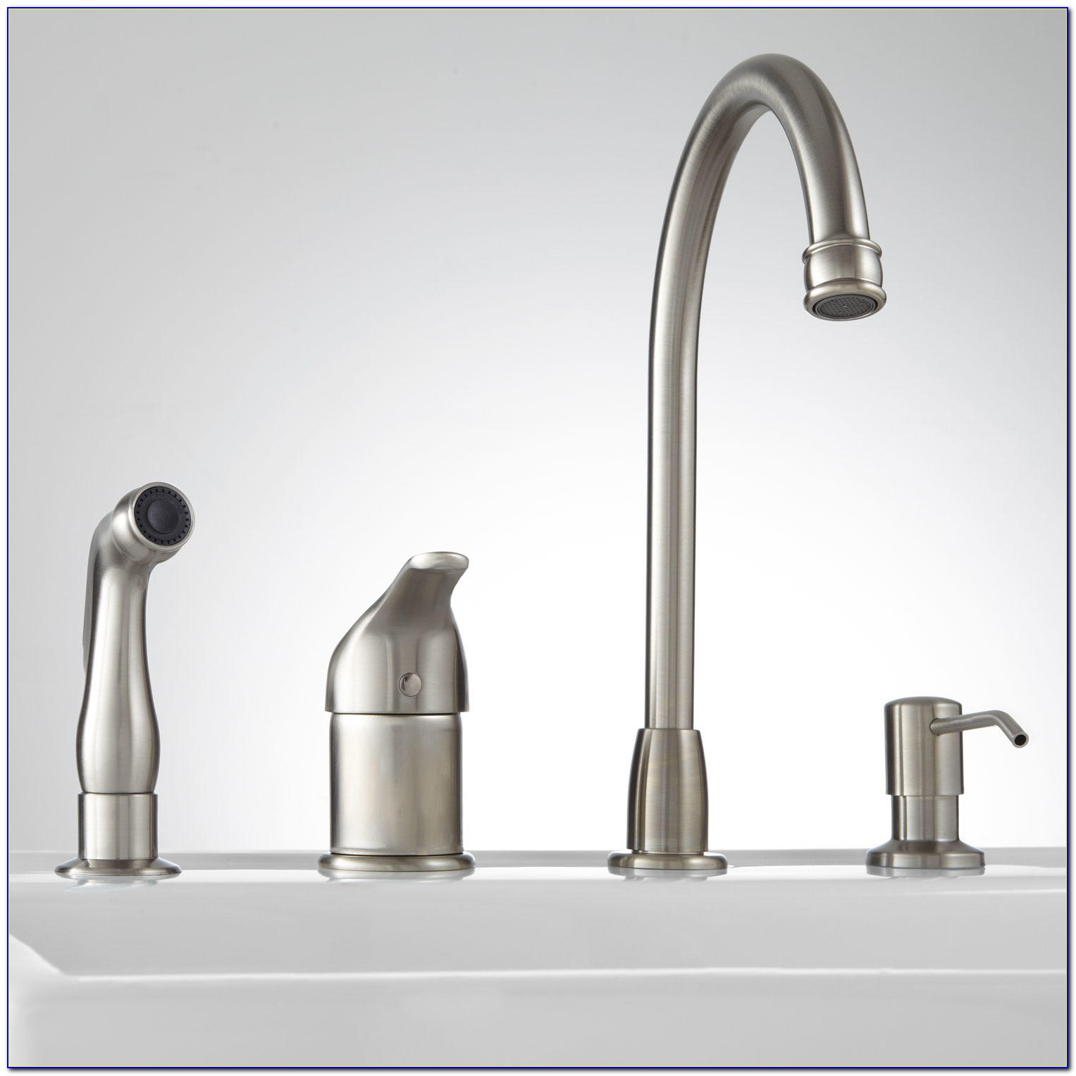 Moen Kitchen Faucet With Sprayer And Soap Dispenser