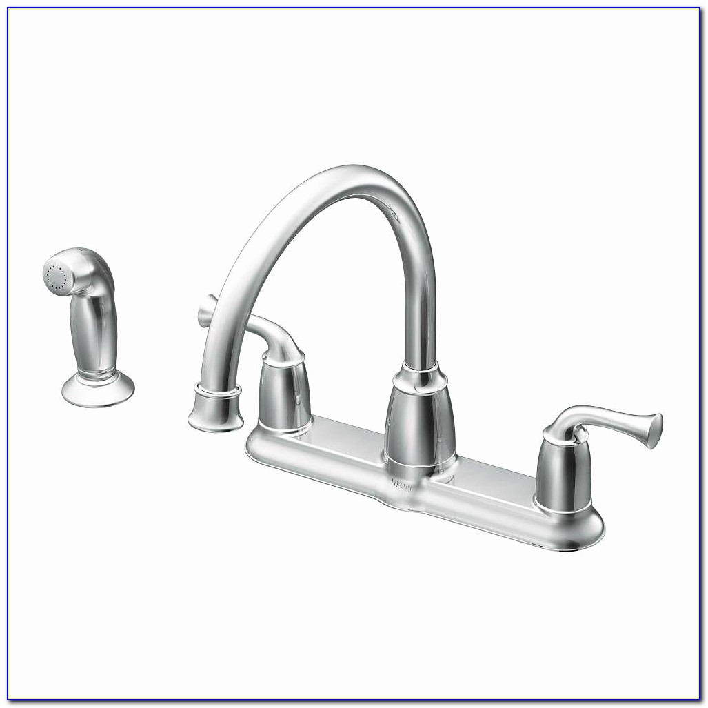 Moen White Kitchen Faucet Elegant Moen Banbury 2 Handle Mid Arc Standard Kitchen Faucet With Side