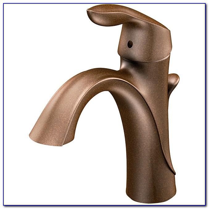 Moen 6400orb Eva One Handle Oil Rubbed Bronze High Arc Bathroom For Oiled Bronze Bathroom Faucet Plan