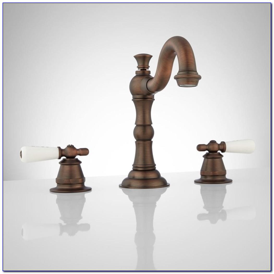 Oiled Bronze Bathroom Faucet Roseanna Widespread Bathroom Faucet Porcelain Lever Handles