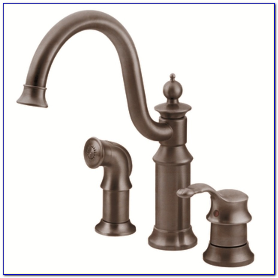 Oil Rubbed Bronze Kitchen Faucet With Soap Dispenser
