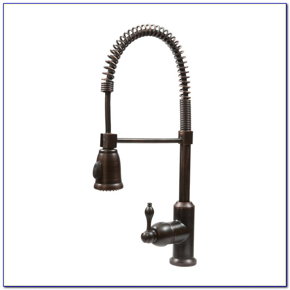 Oil Rubbed Bronze Pull Out Kitchen Faucet