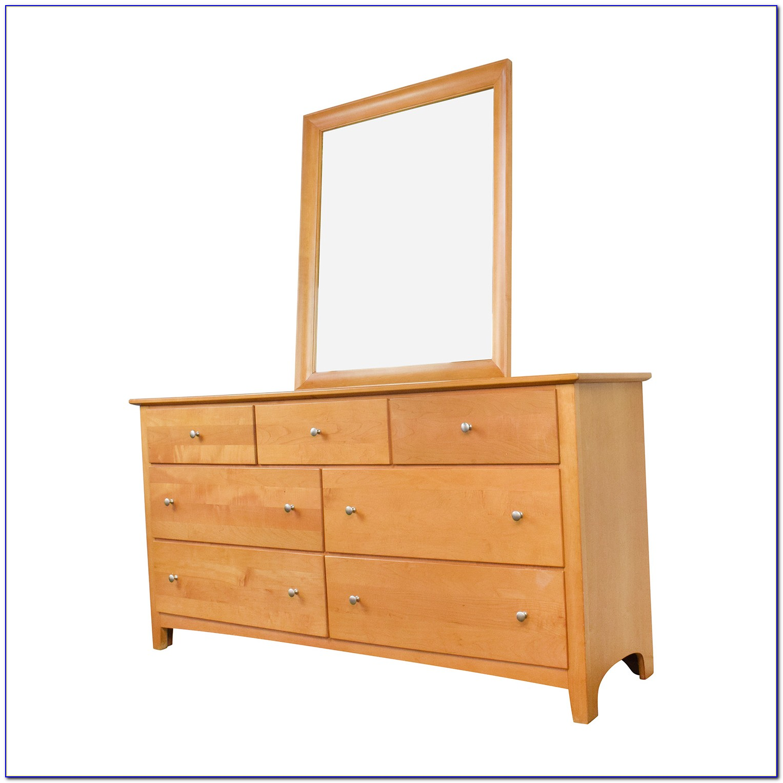 Old Wooden Dresser With Mirror