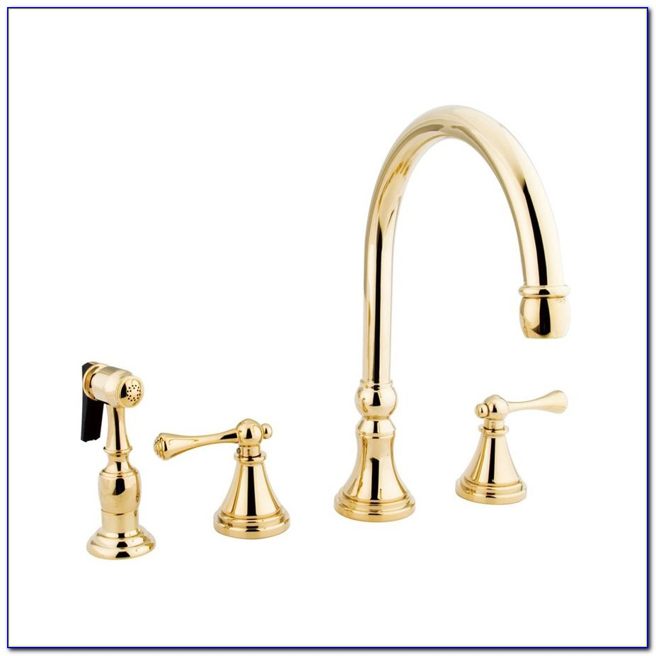Polished Brass Kitchen Faucet Pull Out