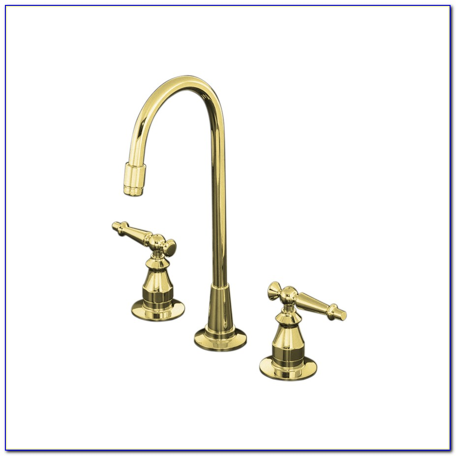 Polished Brass Single Handle Kitchen Faucets
