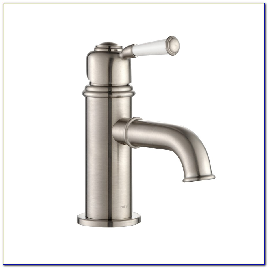 Polished Nickel Single Hole Bathroom Faucet