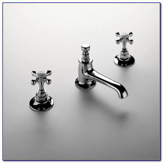 Porcelain Cross Handle Bathroom Faucets