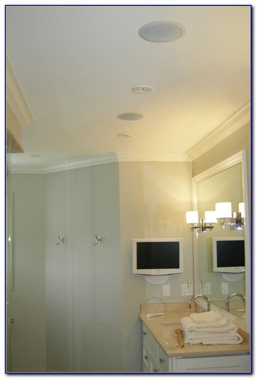 Qtx Bluetooth Amplifier & Ceiling Speakers For Bathroom Kitchen Sauna