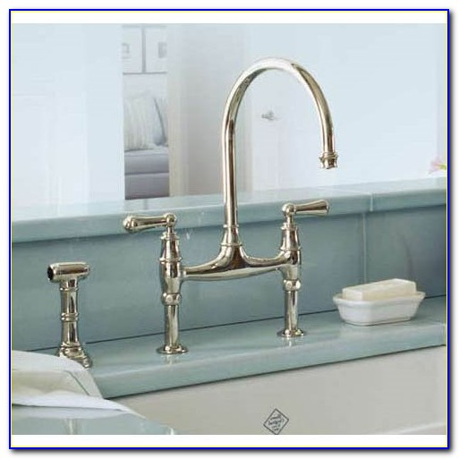 Rohl 3 Leg Bridge Country Kitchen Faucet With Sidespray