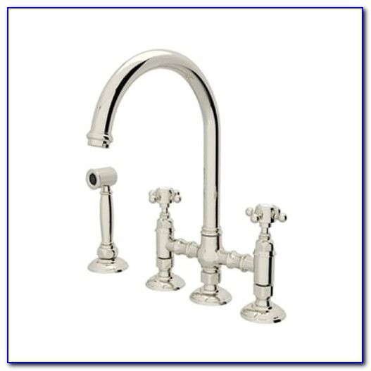 Rohl Perrin & Rowe Bridge Faucet With Sidespray