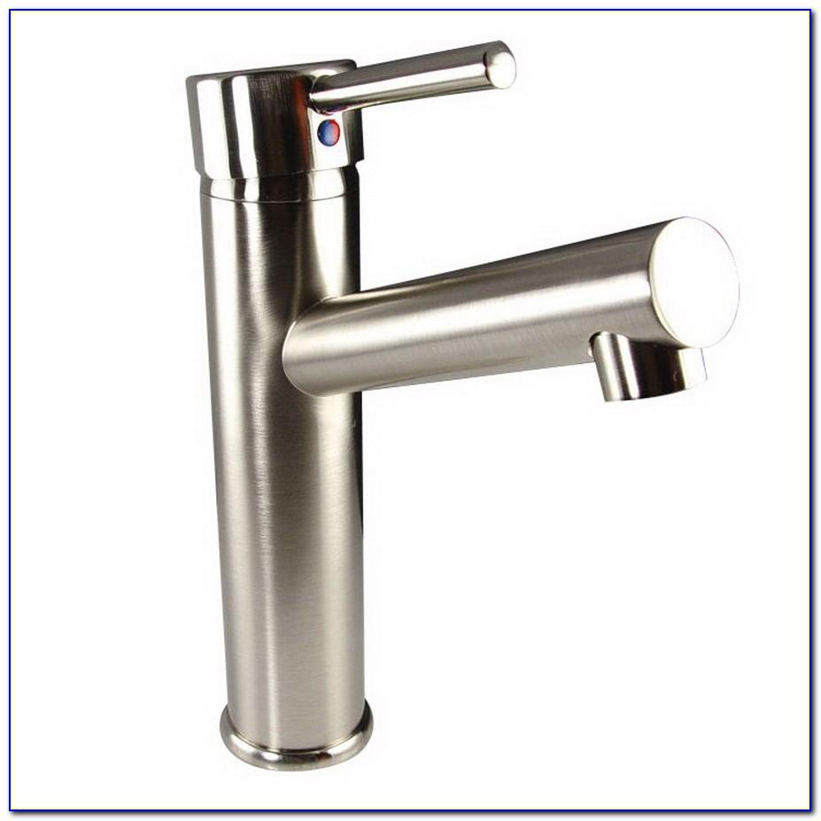 Satin Nickel Single Hole Bathroom Faucets