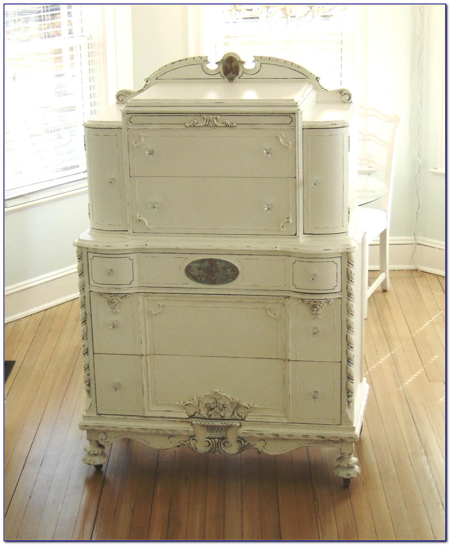 Shabby Chic Tall White Dresser