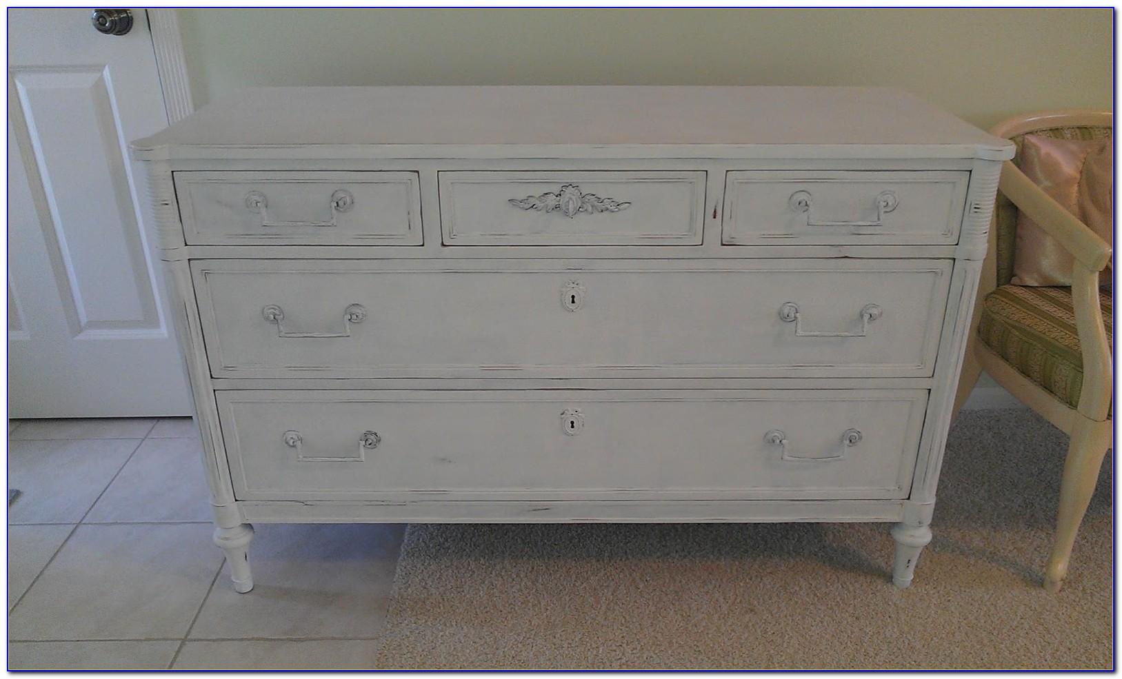 Shabby Chic White Dresser Vintage