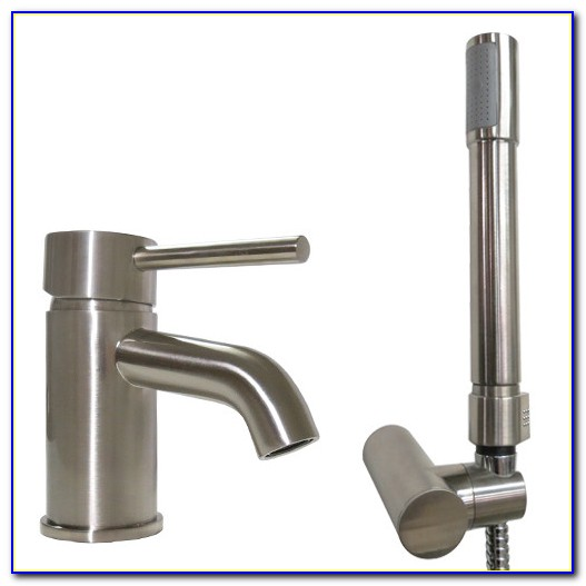 Single Handle Bathroom Faucet With Sprayer
