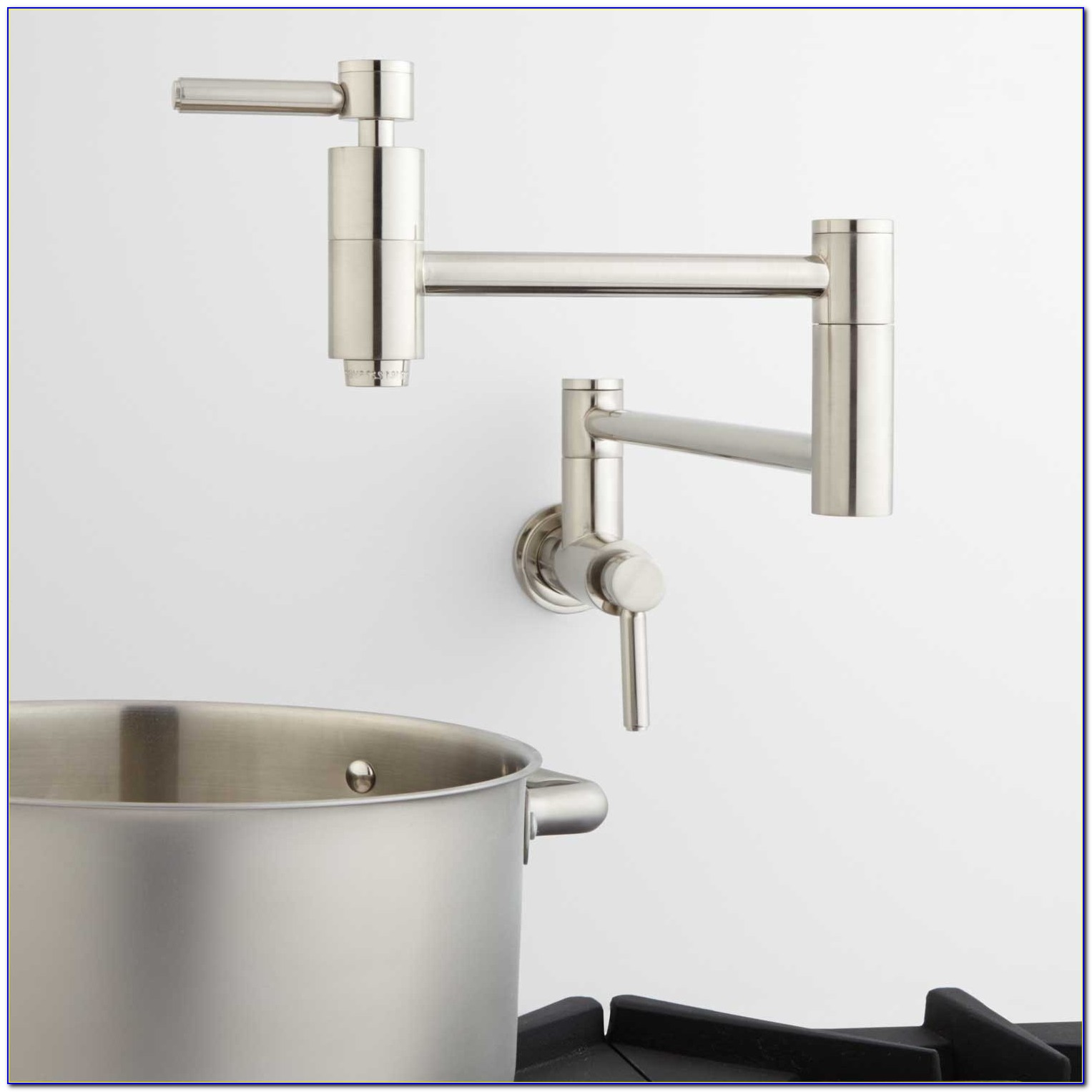 Single Handle Wall Mount Pot Filler Faucet By Delta