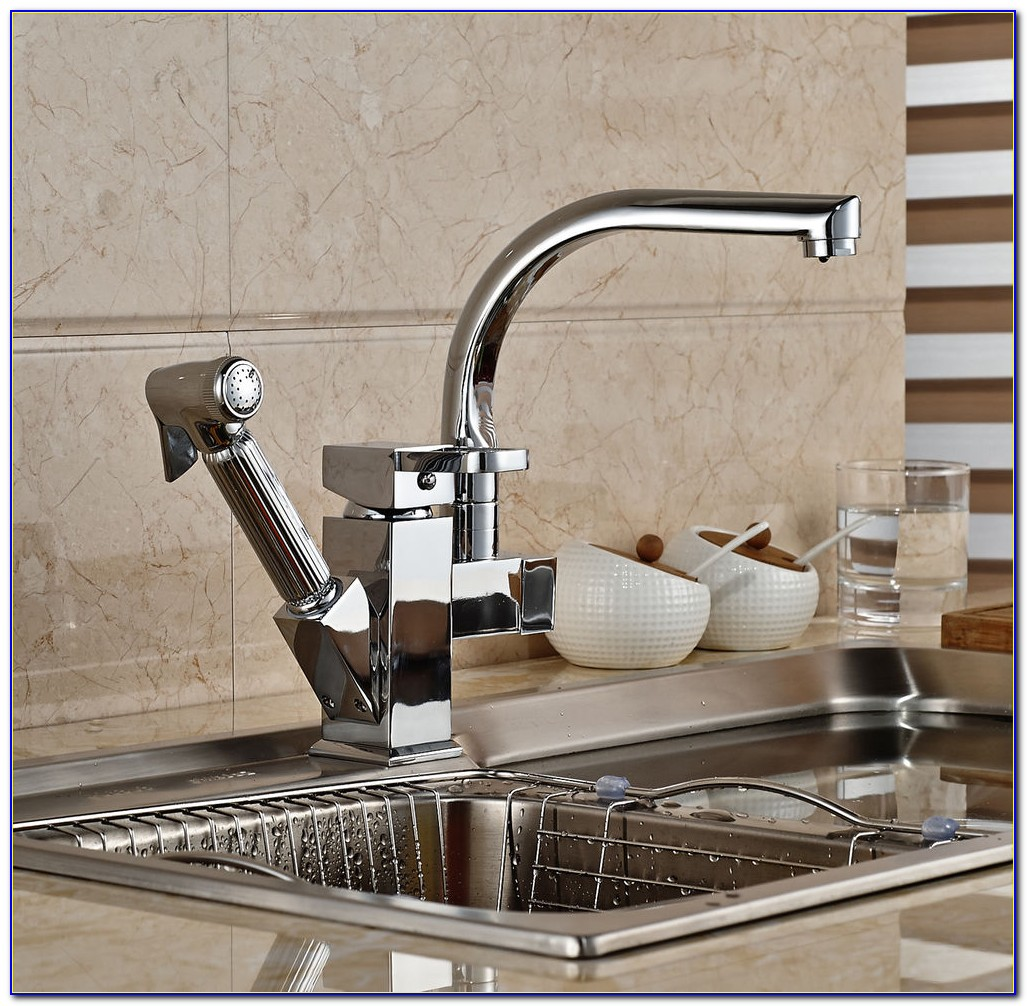 Single Hole Faucet With Sprayer