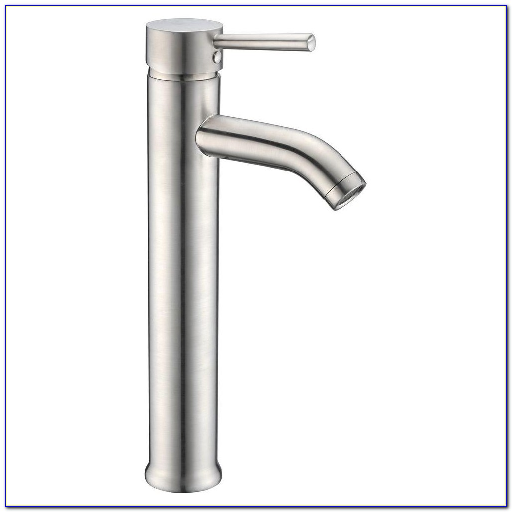 Single Hole Vessel Faucet Brushed Nickel