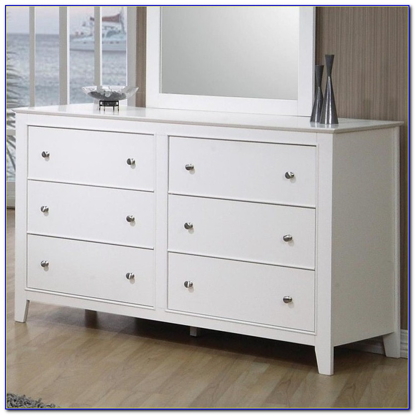 Six Drawer White Dresser