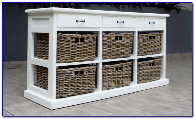 Small Dresser With Wicker Baskets
