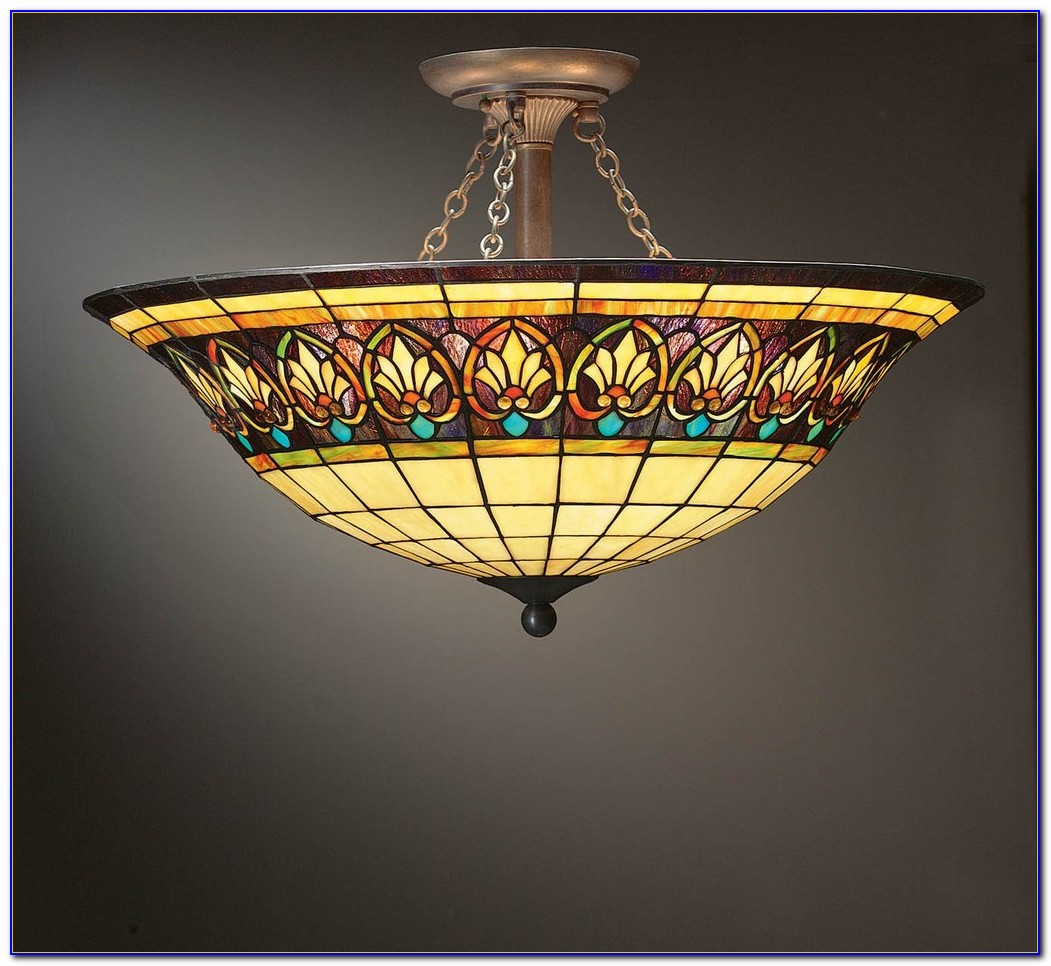 Stained Glass Ceiling Light Patterns