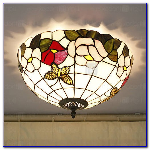Stained Glass Ceiling Lights Flush Mount