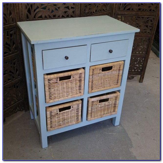 Storage Dresser With Baskets