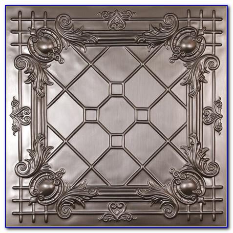 Tin Tile Ceiling Installation